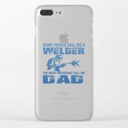 WELDER DAD Clear iPhone Case