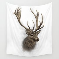stag Wall Tapestries featuring stag by emegi