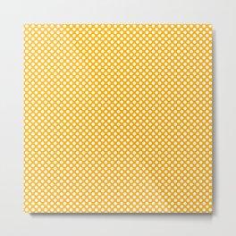 Gold Fusion and White Polka Dots Metal Print