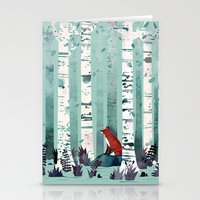 spring Stationery Cards featuring The Birches by littleclyde