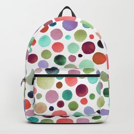 Warm watercolor drops Backpack