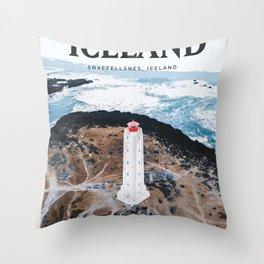 Visit Iceland Throw Pillow
