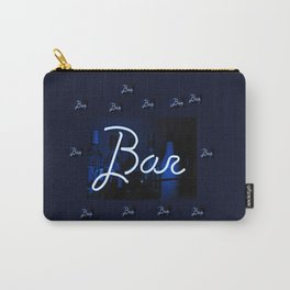 Bar sign blue and neon light Carry-All Pouch