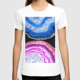 Pink and Blue agates T-shirt