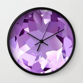 Precious Amethyst. Wall Clock