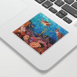 Zach's Seascape - Sea turtles Sticker