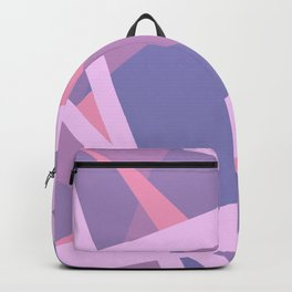 Pastel Pink and Purple Modern Geometric Lines Backpack