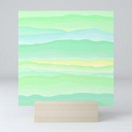 Mint Aqua Rolling Hills Mini Art Print