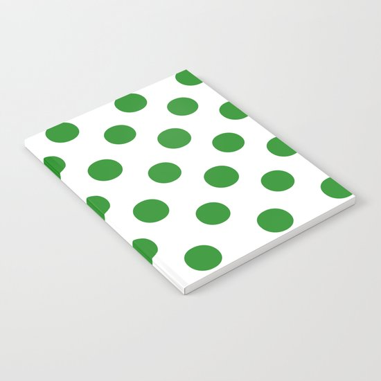 Polka Dots (Forest Green/White) Notebook