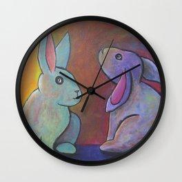 Sunset Bunnies Wall Clock