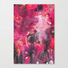 Pour Ultraviolet Pink Canvas Print