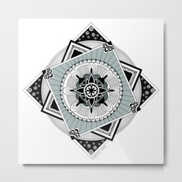 Hypnotic Mandala Metal Print