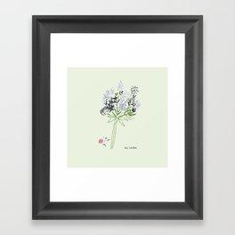 Simple spring bouquet Framed Art Print