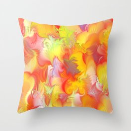 Spring Feathers Throw Pillow