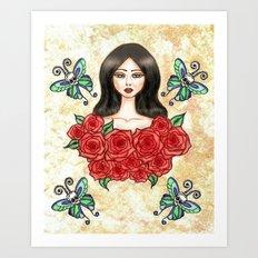 Flutter on by Art Print