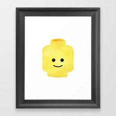 Lego head  Framed Art Print