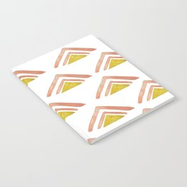 Pink and Yellow Boho Triangles Notebook