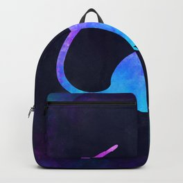 RAT IN SPACE // Animal Graphic Art // Watercolor Canvas Painting // Modern Minimal Cute Backpack