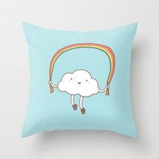 Rainbow Skipping Throw Pillow