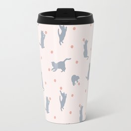 Polka Dot Cats Travel Mug