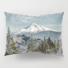 Frosty Mountain - Nature Photography Pillow Sham
