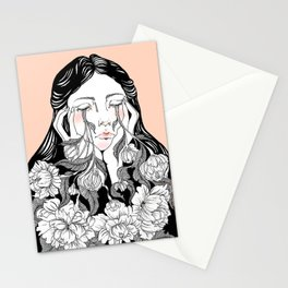 cry me a garden Stationery Cards