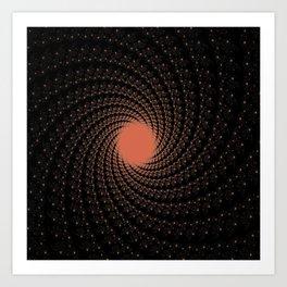 spiral black coral Art Print