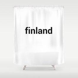 finland Shower Curtain