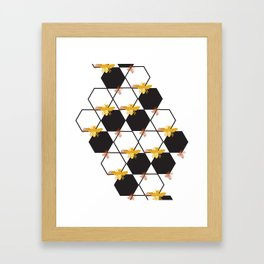 Bees Pattern Framed Art Print