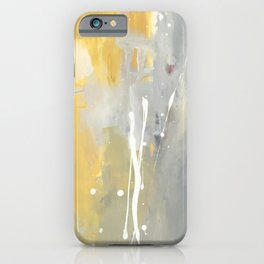 50 Shades of Grey and Yellow iPhone Case