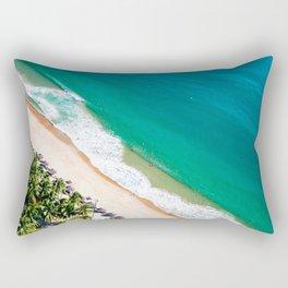 Aerial view of Nha Trang city beach Rectangular Pillow