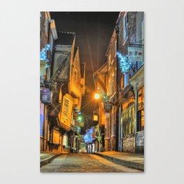 York Shambles at Xmas Canvas Print