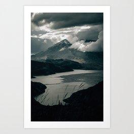 Moody Mount St. Helens Art Print