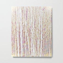 Pastel Paint Birches Metal Print