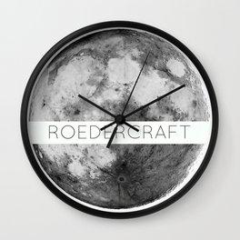 ROEDERcraft Moon Logo Wall Clock