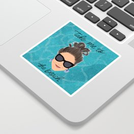 Beach Babe Sticker