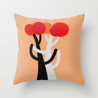 discount Throw Pillows featuring Let's dance! by Roxana Jordan