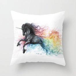 Unicorn dissolving Throw Pillow
