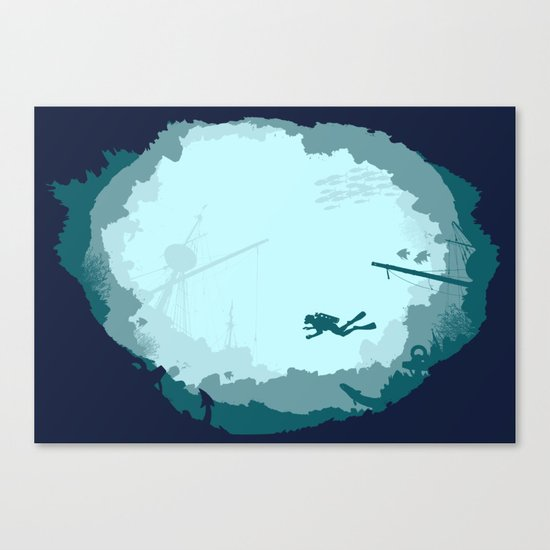 Dive Deep Canvas Print