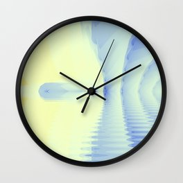 Fractal Ice Cave Wall Clock