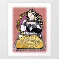 ouija Art Prints featuring Ouija by Daniella Batsheva
