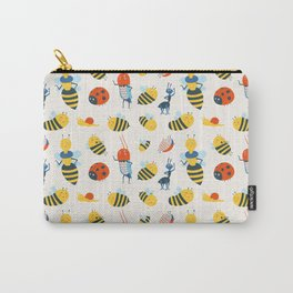 Happy Bees and Bugs Carry-All Pouch
