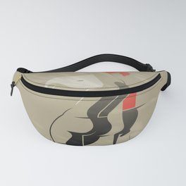 White Hair Girl on the Wind Fanny Pack