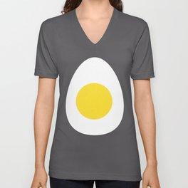 Boiled Egg Funny Fruit Food Halloween Costume graphic Unisex V-Neck