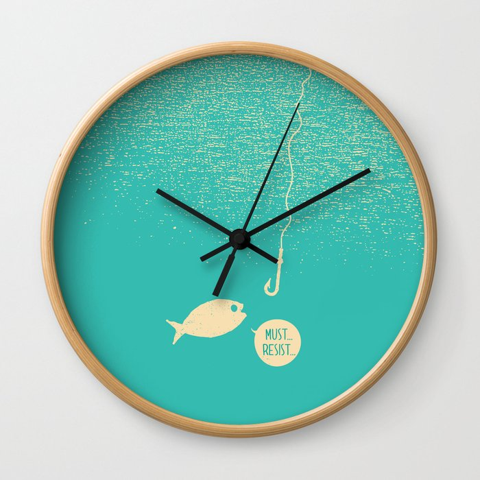 Fish & Hook Wall Clock