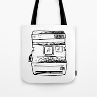 polaroid Tote Bags featuring polaroid by brittcorry