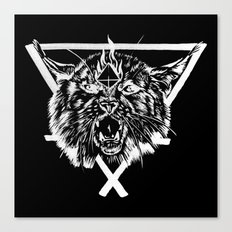 Fire Lynx Canvas Print