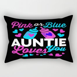 Pink or Blue AUNTIE Loves You! Congratulate parents-to-be Rectangular Pillow