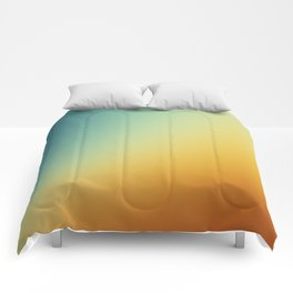 Gradient Colours: Orange Blue Comforters