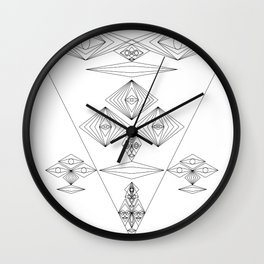 Abstract and Geomtric Faces Wall Clock